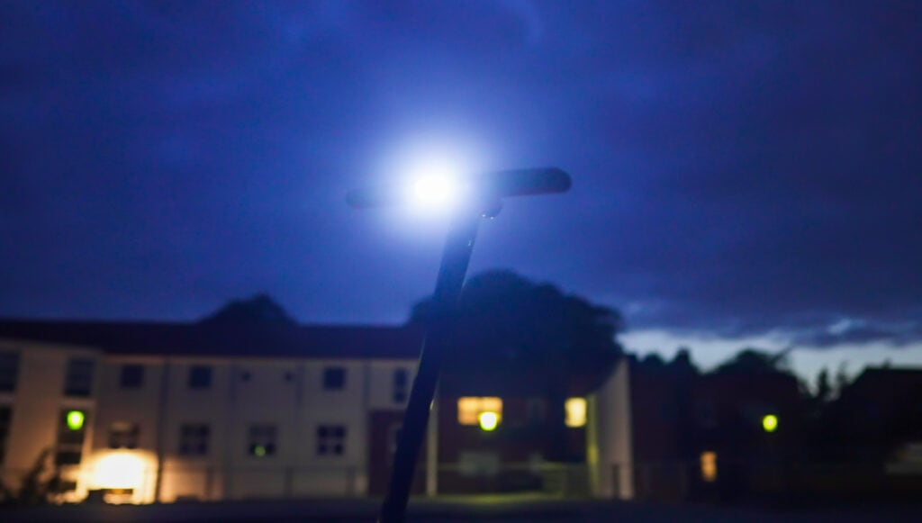 Unagi model one headlight at night
