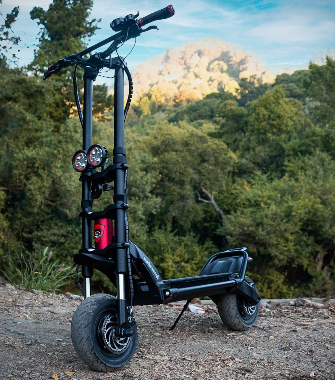 Kaabo wolf warrior 11 electric scooter in nature
