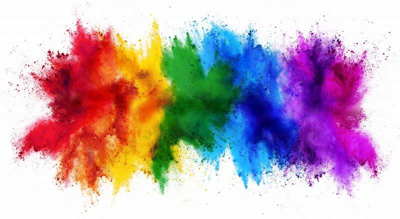diy creative color splatter