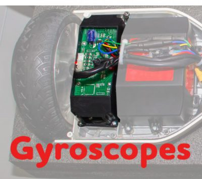 Gyroscope on a self-balancing scooter
