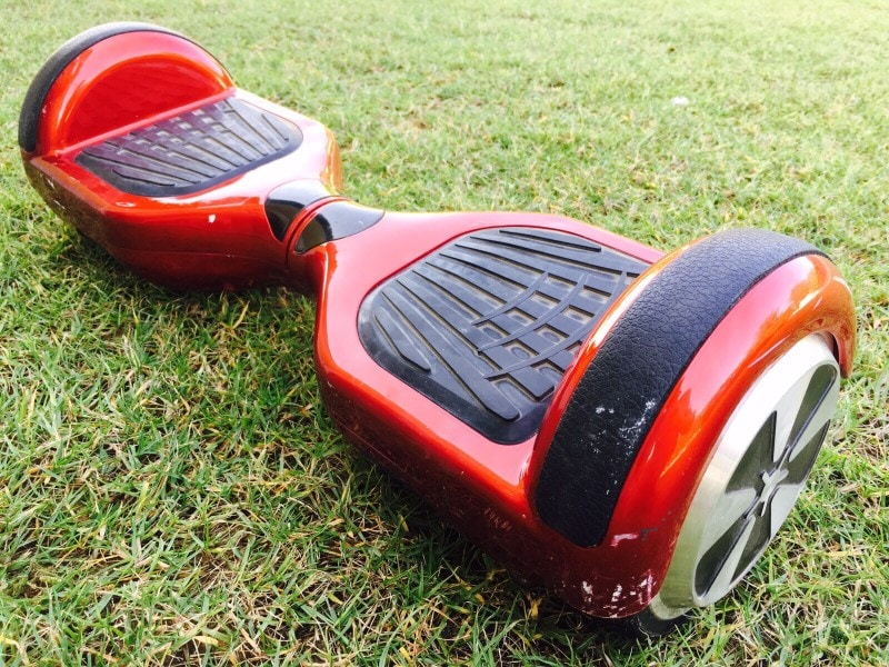 Hoverboard on grass