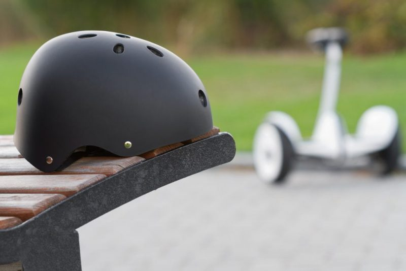 segway and helmet