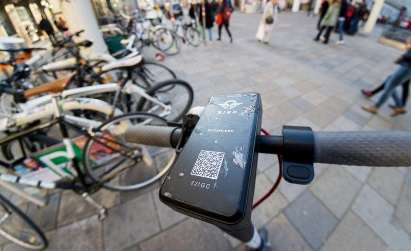 Bird shared rental e-scooter in Vienna