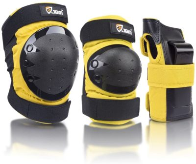 JBM adult and kids knee pads for skateboarding and longboarding