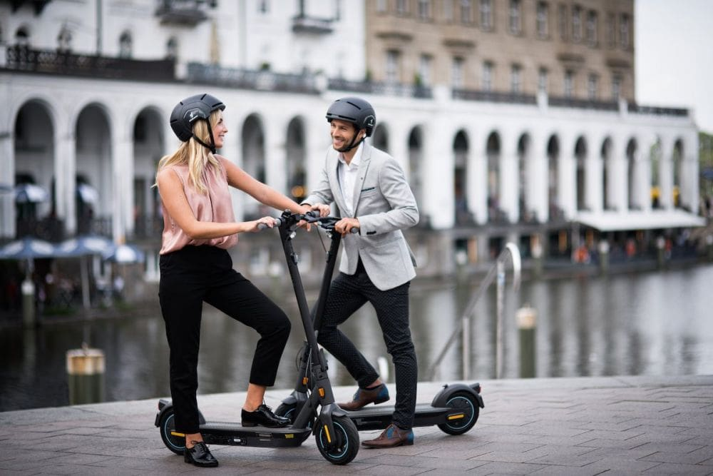 Man and woman on Segway Ninebot G30D Max
