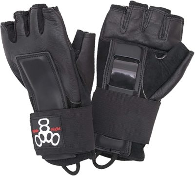triple 8 hired hands skateboarding wrist guard gloves