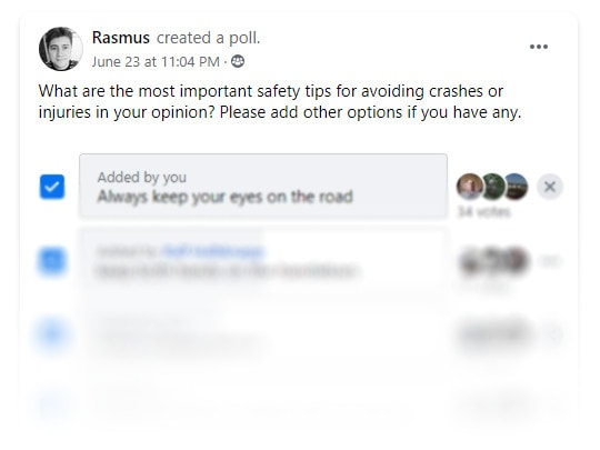 Electric scooter safety tips facebook poll