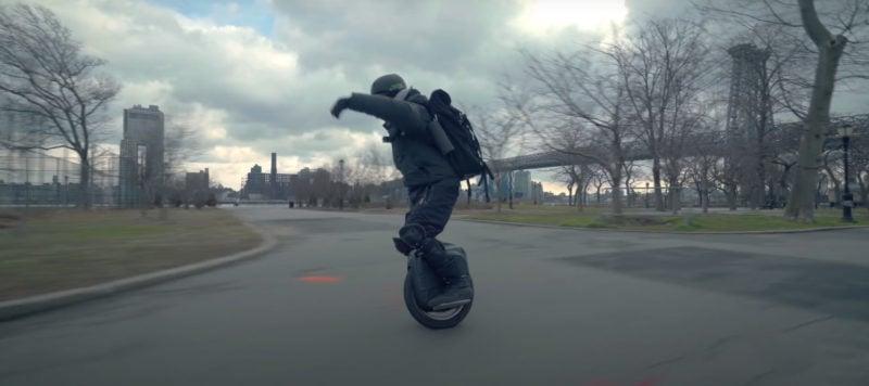 man riding gotway msx pro