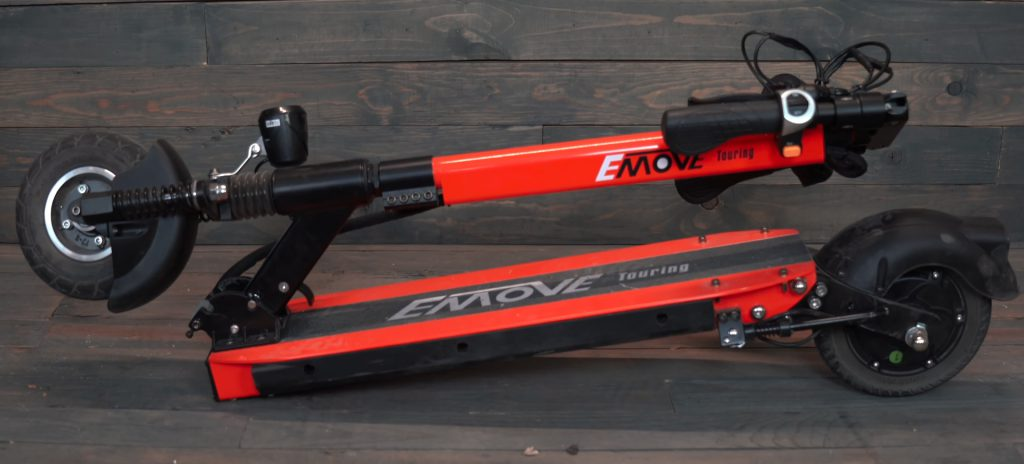 Emove Touring Folded down