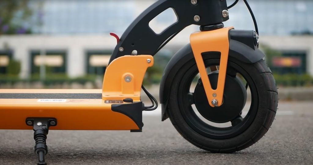 Inokim Light 2 front wheel hub motor closeup