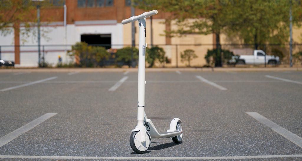 Segway Ninebot ES2 on asphalt