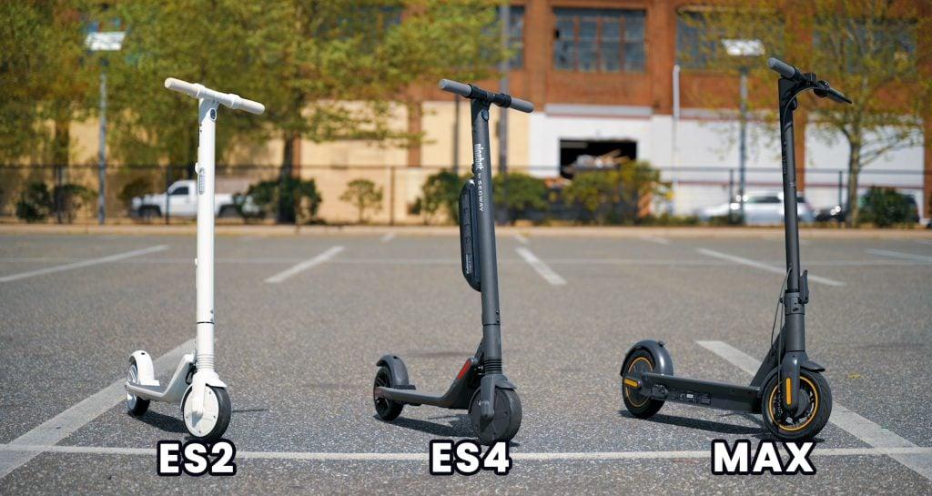Segway Ninebot ES2 vs ES4 vs MAX