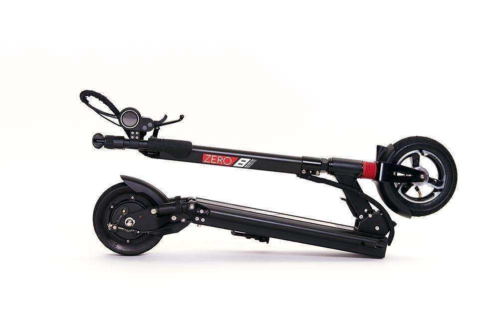 Zero 8 electric scooter folded
