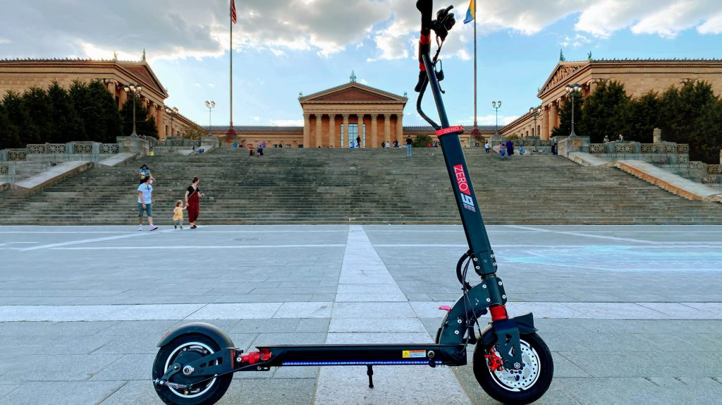 Zero 9 Electric scooter in the city