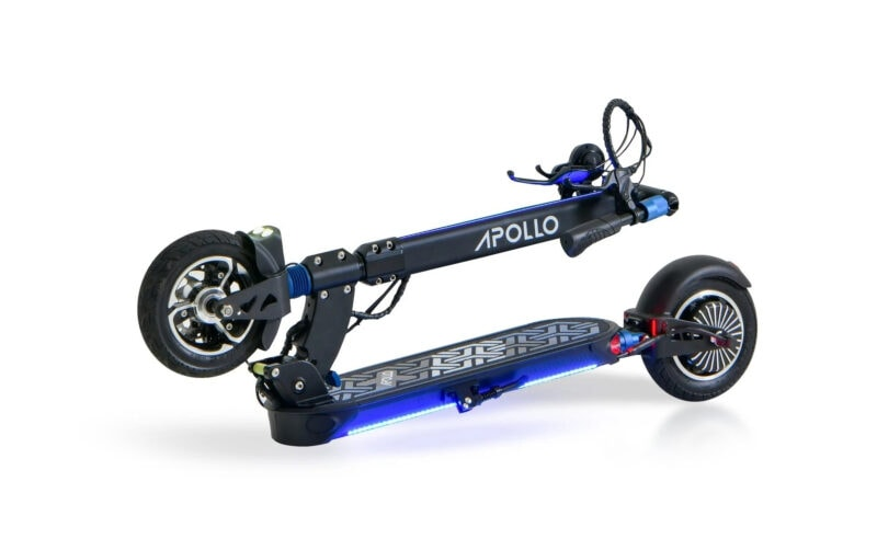 apollo city electric scooter folded
