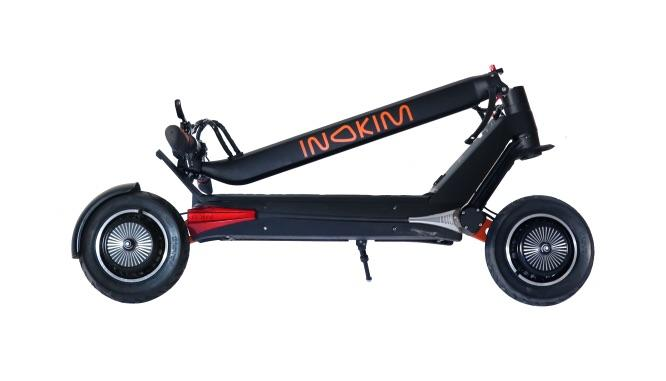 inokim oxo electric scooter folded