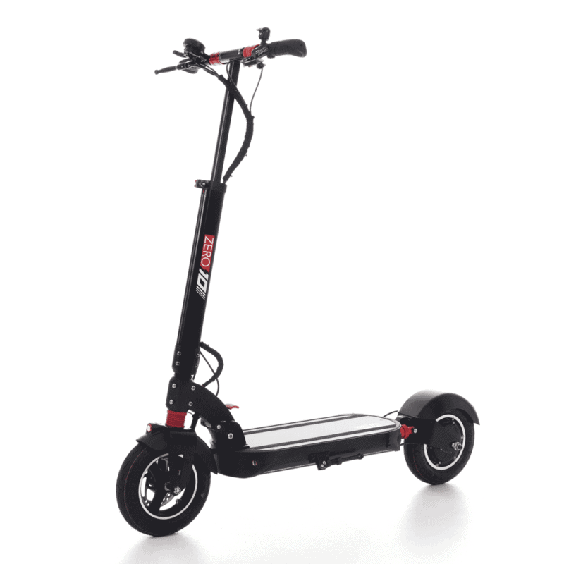 zero10 electric scooter front side