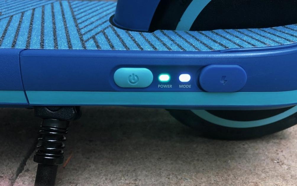 segway ninebot zing e8 power button closeup