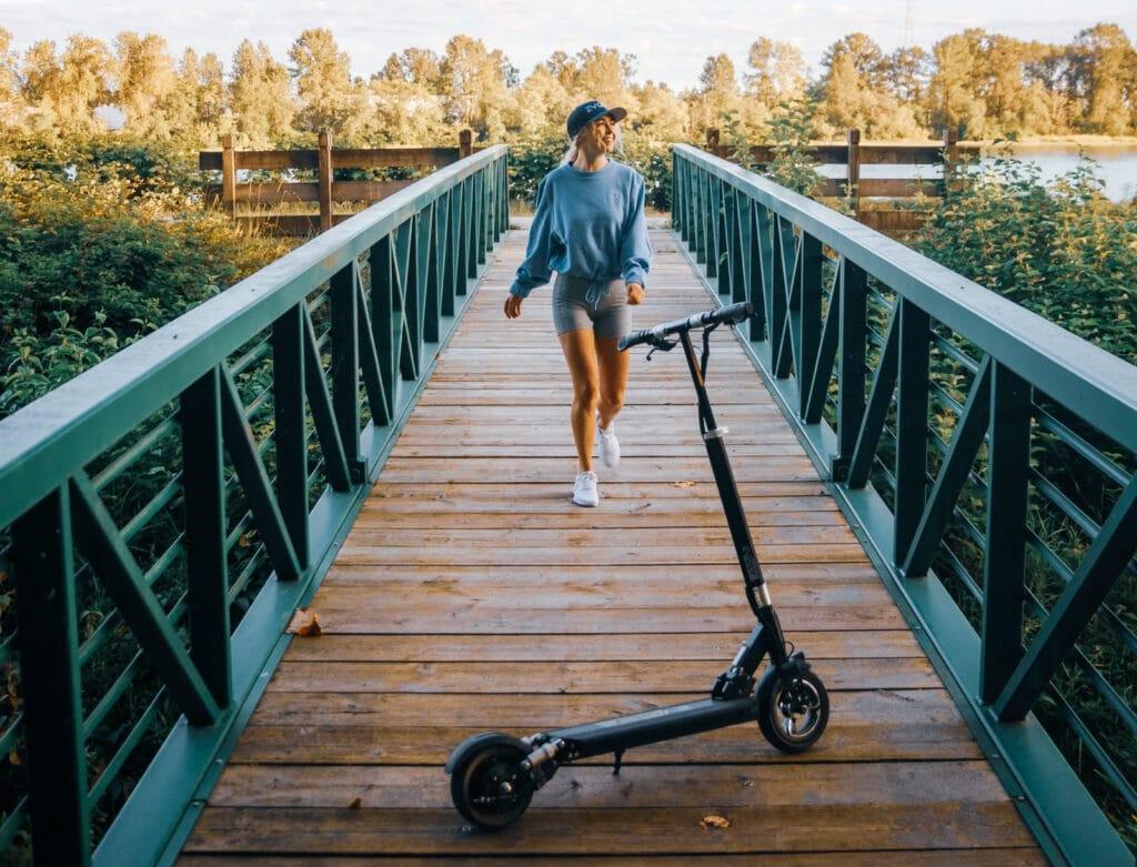 evolv city e-scooter in nature