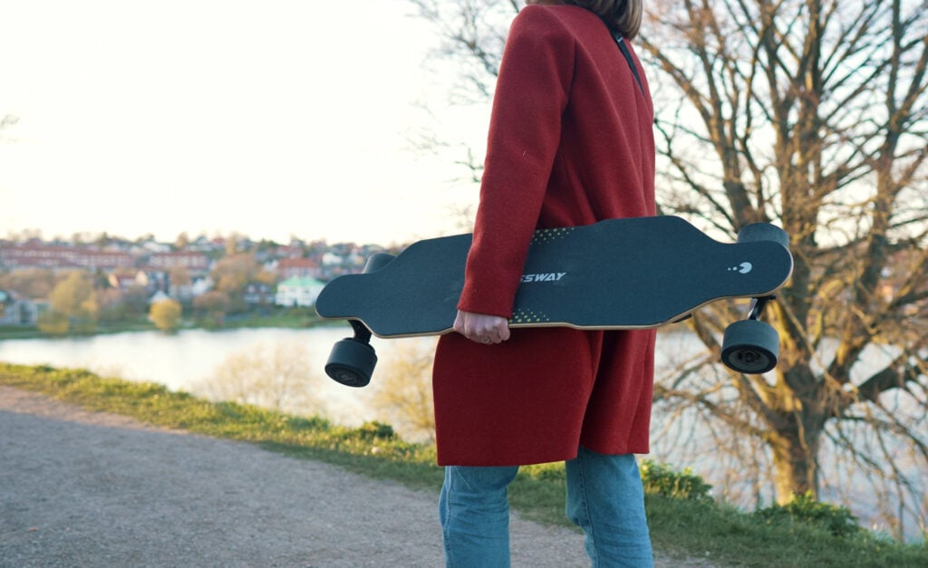 girl carrying a possway t2