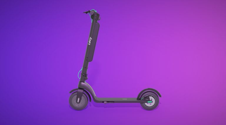 Levy Plus electric scooter 3d render